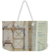 Brooklyn Bridge: Diagram Weekender Tote Bag by Granger