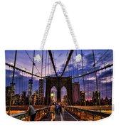 Brooklyn Bridge Evening Weekender Tote Bag