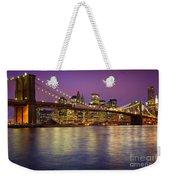 Brooklyn Bridge Weekender Tote Bag by Inge Johnsson