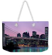 Brooklyn Bridge New York Ny Usa Weekender Tote Bag