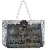Brooklyn Bridge Plaque Weekender Tote Bag