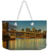 Brooklyn Bridge Twilight Weekender Tote Bag