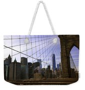 Brooklyn Bridge View Weekender Tote Bag