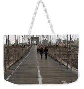 Brooklyn Bridge Walkway Weekender Tote Bag