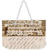 Brooklyn Dodgers Baseball Team Weekender Tote Bag