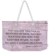 Brother's In Arms  Weekender Tote Bag