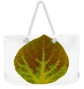 Brown And Green Aspen Leaf 4 Weekender Tote Bag