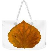 Brown And Orange Aspen Leaf 1 Weekender Tote Bag