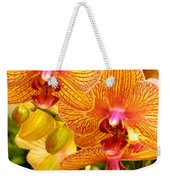 Smiling Brown And Pink Orchids Weekender Tote Bag