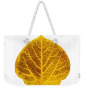 Brown And Yellow Aspen Leaf 2 Weekender Tote Bag