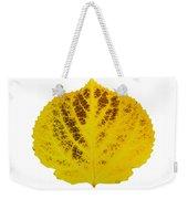 Brown And Yellow Aspen Leaf 3 Weekender Tote Bag