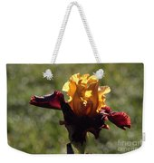 Brown And Yellow Iris Weekender Tote Bag