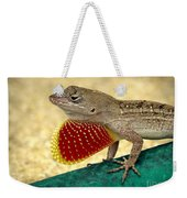 Brown Anole Weekender Tote Bag