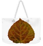 Brown Aspen Leaf 2 Weekender Tote Bag