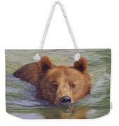 Brown Bear Painting Weekender Tote Bag