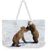 Brown Bear Ursus Arctos Cubs Play Weekender Tote Bag
