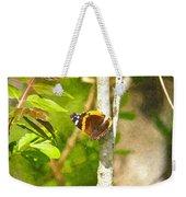 Brown Butterfly 2 Weekender Tote Bag