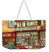 Brown Derby Van Horne Shopping Center Clay's Pharmacy Montreal Paintings City Scenes Carole Spandau Weekender Tote Bag