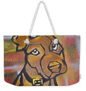 Brown Dog Weekender Tote Bag