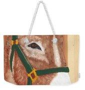 Brown Donkey On Cedar Weekender Tote Bag