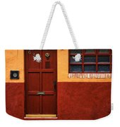 Brown Door In Mexico Weekender Tote Bag