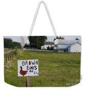 Brown Eggs Weekender Tote Bag