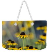 Brown Eyed Susans On Yellow And Green Weekender Tote Bag
