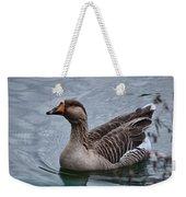 Brown Feathered Goose Weekender Tote Bag