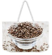 Brown Flax Seed Weekender Tote Bag
