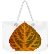 Brown Green Orange And Red Aspen Leaf 1 Weekender Tote Bag