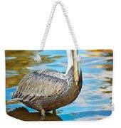 Brown Pelican Along The Bayou Weekender Tote Bag