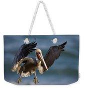 Brown Pelican Flying California Weekender Tote Bag