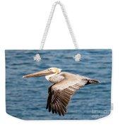 Brown Pelican Flying Weekender Tote Bag