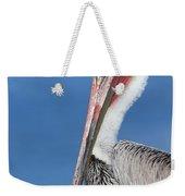 Brown Pelican Head Shot Weekender Tote Bag