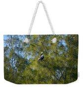 Brown Pelican In The Trees Weekender Tote Bag