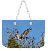 Brown Pelican Landing Weekender Tote Bag
