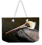 Brown Pelican Portrait Weekender Tote Bag