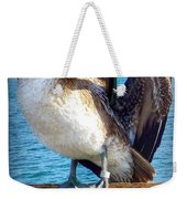 Brown Pelican Preen  Weekender Tote Bag