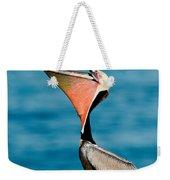 Brown Pelican Showing Pouch Weekender Tote Bag