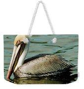 Brown Pelican Swimming Weekender Tote Bag