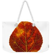 Brown Red And Yellow Aspen Leaf 1 Weekender Tote Bag