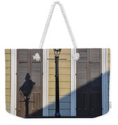 Brown Shutter Doors And Street Lamp - New Orleans Weekender Tote Bag