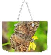 Brown Skipper Butterfly Square Weekender Tote Bag