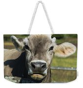 Brown Swiss Cow Weekender Tote Bag