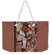 Brown- White Bird Weekender Tote Bag
