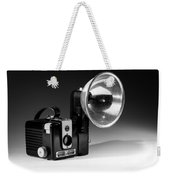 Brownie Hawkeye Black And White Weekender Tote Bag