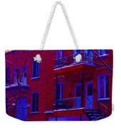 Brownstones In Winter 6 Weekender Tote Bag