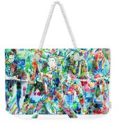 Bruce Springsteen And The E Street Band - Watercolor Portrait Weekender Tote Bag by Fabrizio Cassetta