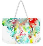 Bruce Springsteen Watercolor Portrait Weekender Tote Bag by Fabrizio Cassetta