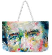 Bruce Springsteen Watercolor Portrait.1 Weekender Tote Bag by Fabrizio Cassetta